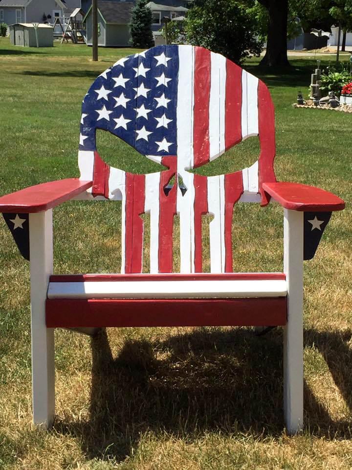 Adirondack pallet skull chair