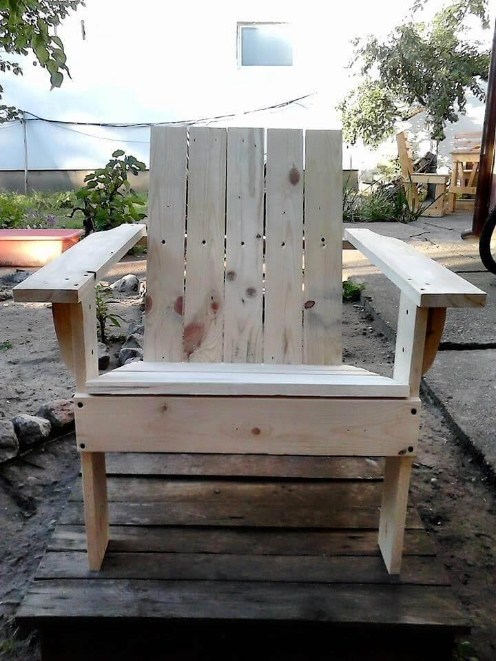 pallet made Adirondack chair