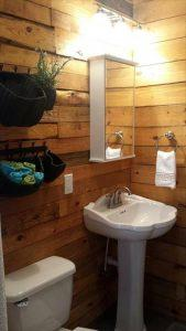 DIY Pallet Bathroom Wall Paneling