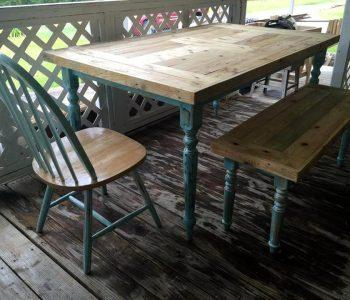 wooden pallet repaired dining set