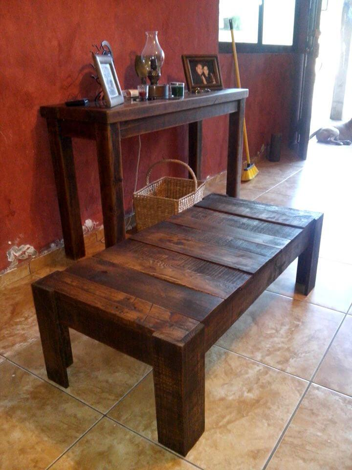 wooden pallet vintage coffee table