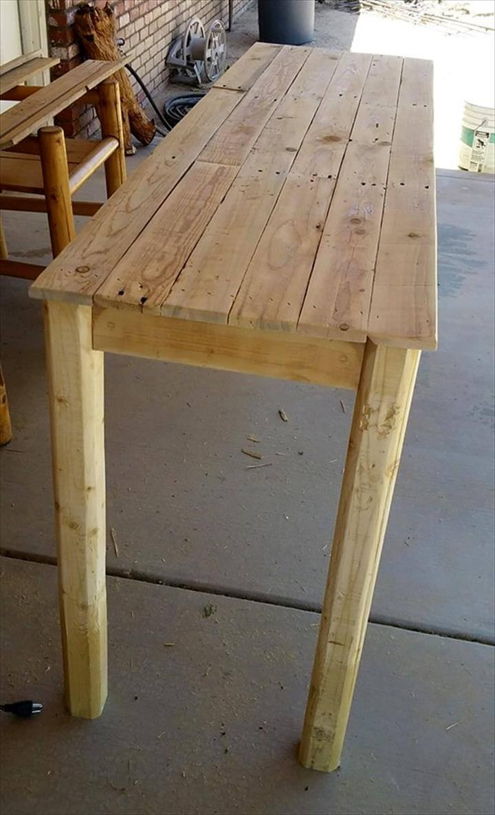 wooden pallet entry way table