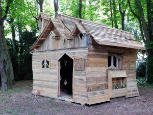 Pallet Cabin Built for Funny Cabins Exhibition