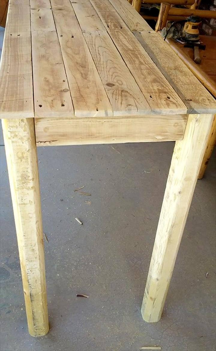 handcrafted pallet entryway table