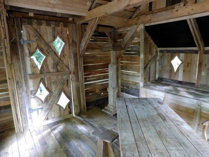 pallet cabin interior