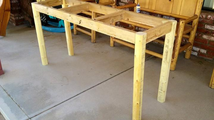 pallet entryway table installation