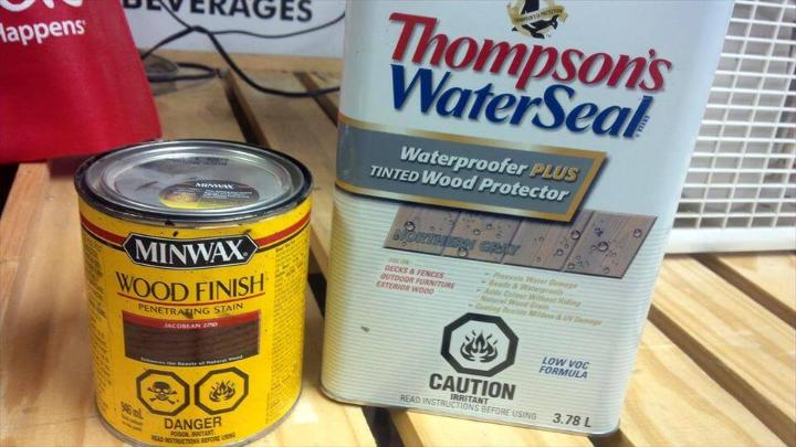 water and sealant and minwax finish