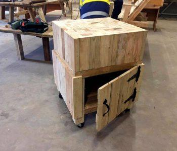 handcrafted wooden pallet multipurpose table