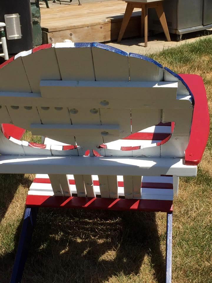 custom wooden pallet Adirondack skull chair