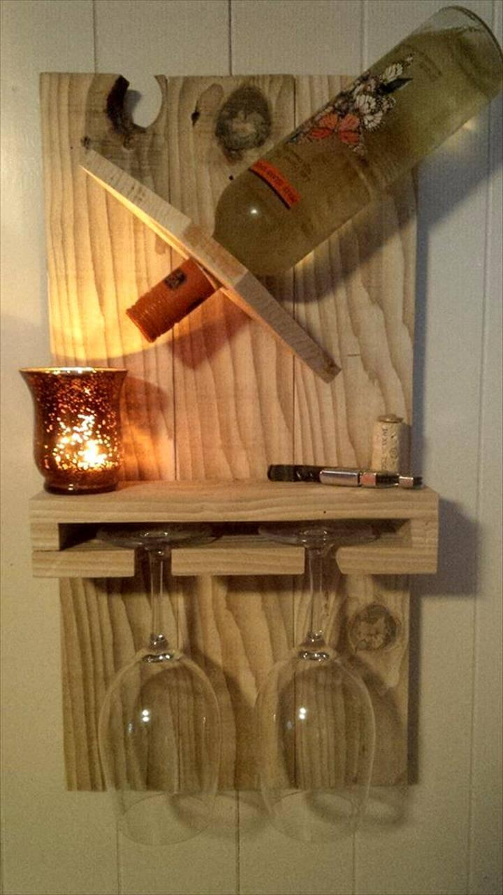 pallet beverage bottle and glass rack