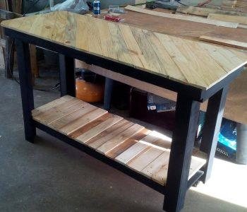 wooden pallet kitchen island or console