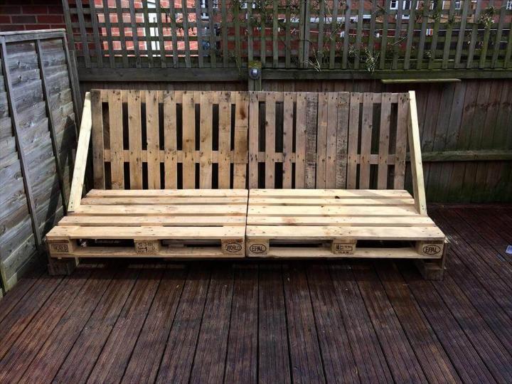 pallet deck sofa frame installation