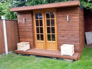 diy pallet outdoor cabin