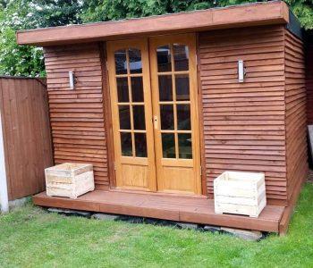 diy pallet outdoor cabin