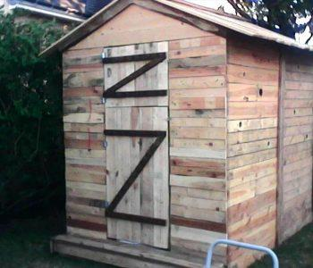 handmade pallet garden shed