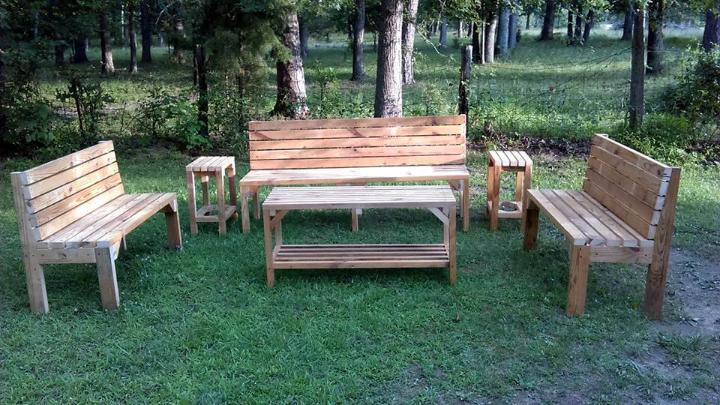 wooden pallet garden sitting seta
