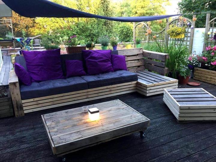 fancy pallet deck sofa