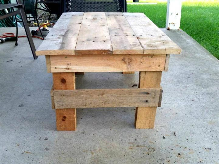 diy pallet mini coffee table