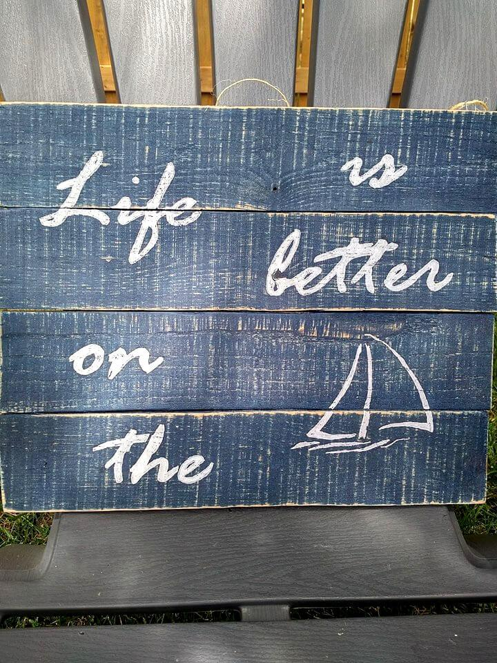 rustic pallet quoted wall art