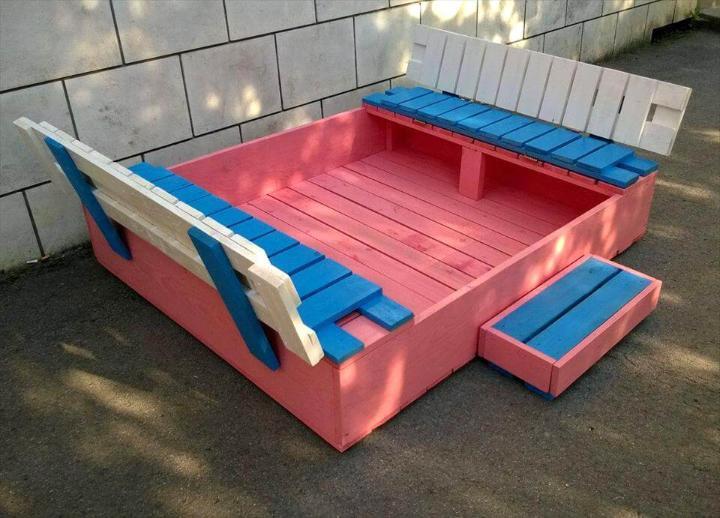 Painted Pallet Sandbox Easy Pallet Ideas