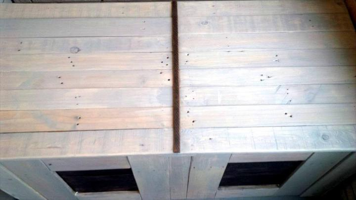 handcrafted wooden pallet trash bin can box