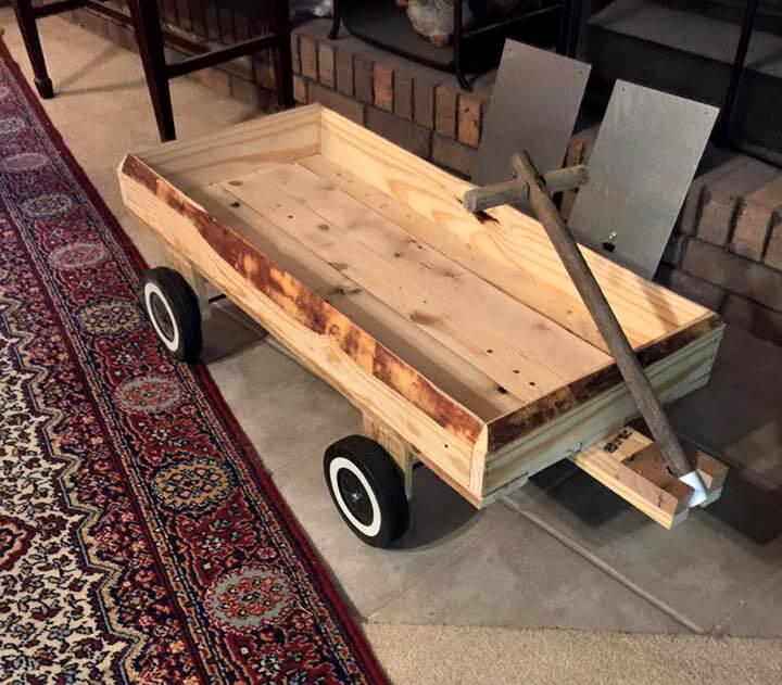 recycled pallet yard cart