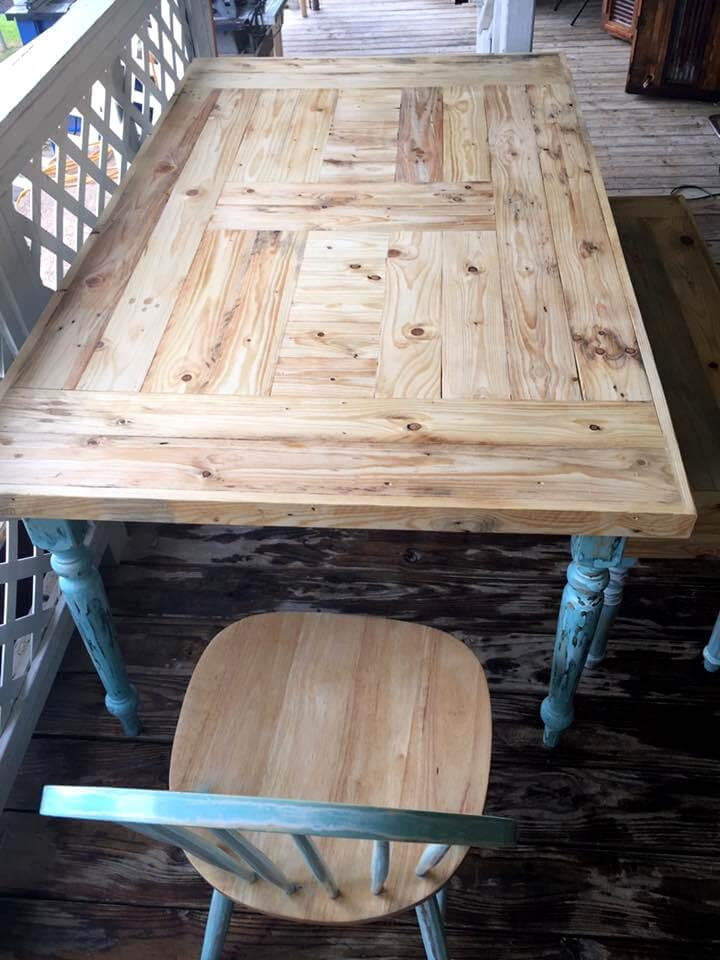 revamped pallet old dining set