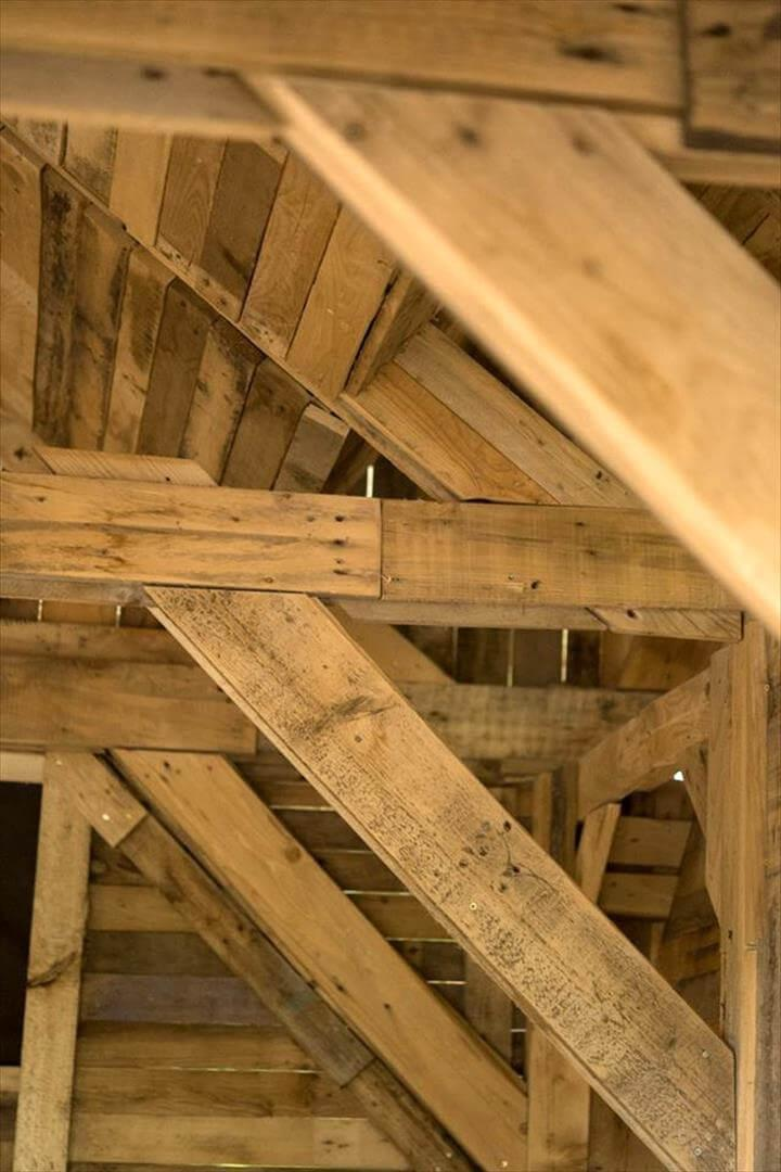 supporting the roof more using extra wooden braces