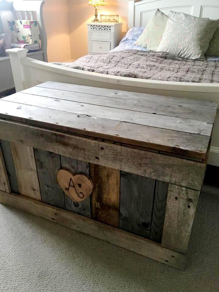 Build This Wooden Pallet Chest Easy Pallet Ideas