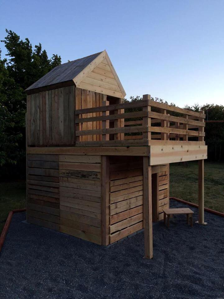 custom wooden pallet fun playhouse for kids