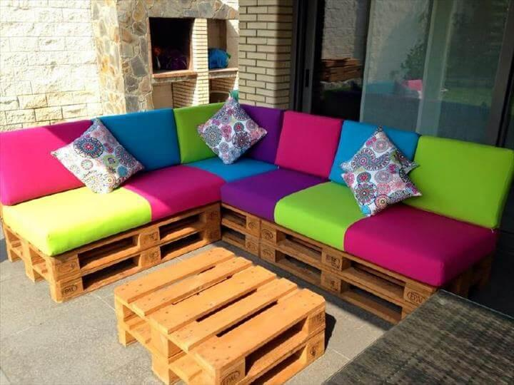 pallet sectional sofa set