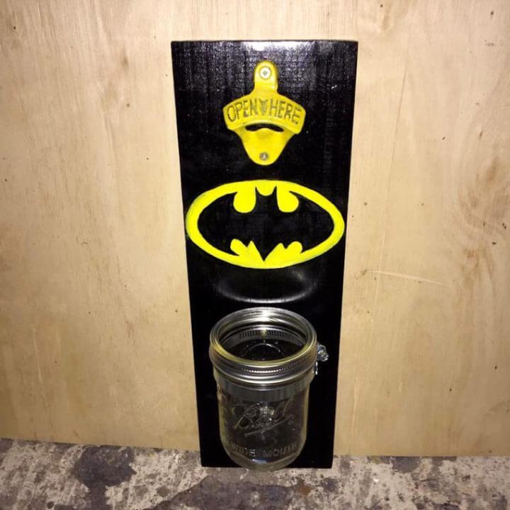 pallet batman bottle opener