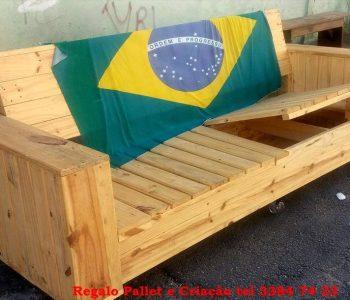 handcrafted pallet sofa with storage in the seat