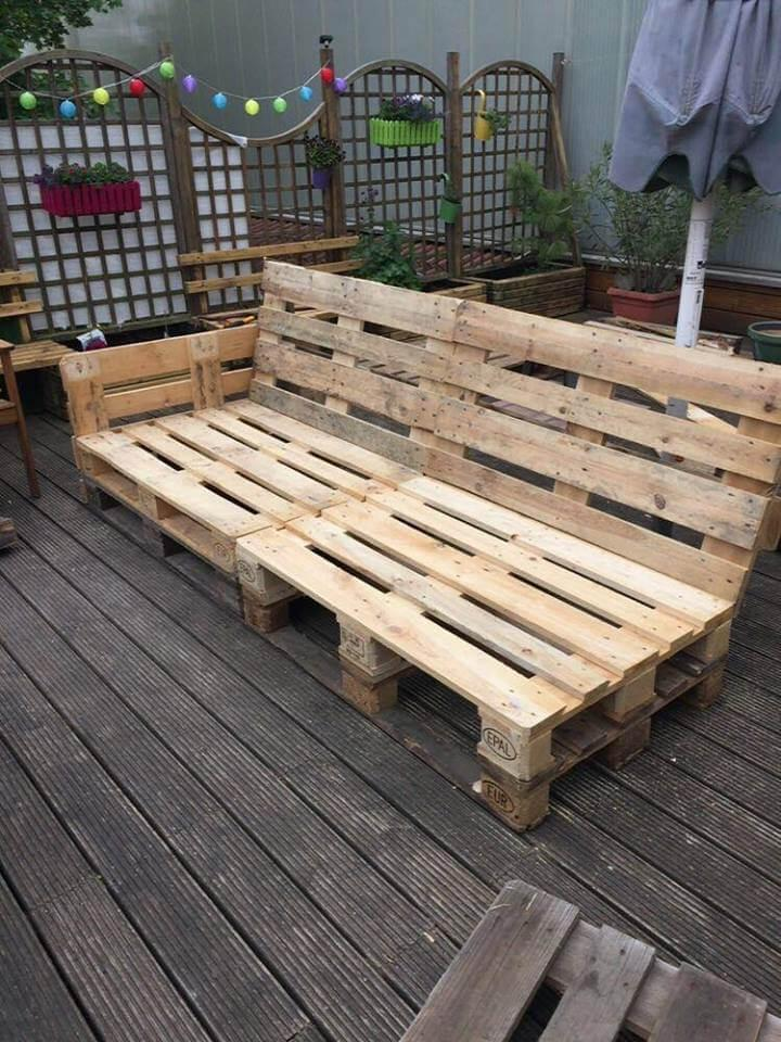 recycled pallet lounge sofa frame
