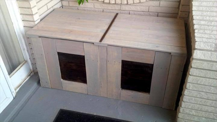 low-cost pallet trash bin can holding box