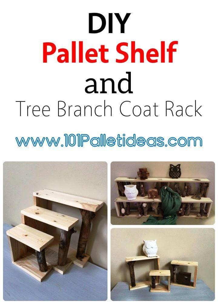 Pallet shelf and Pallet Coat Rack