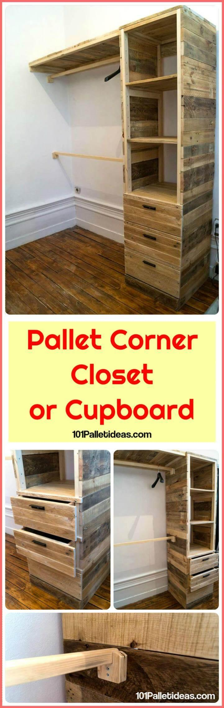 Pallet Closet or Cupboard