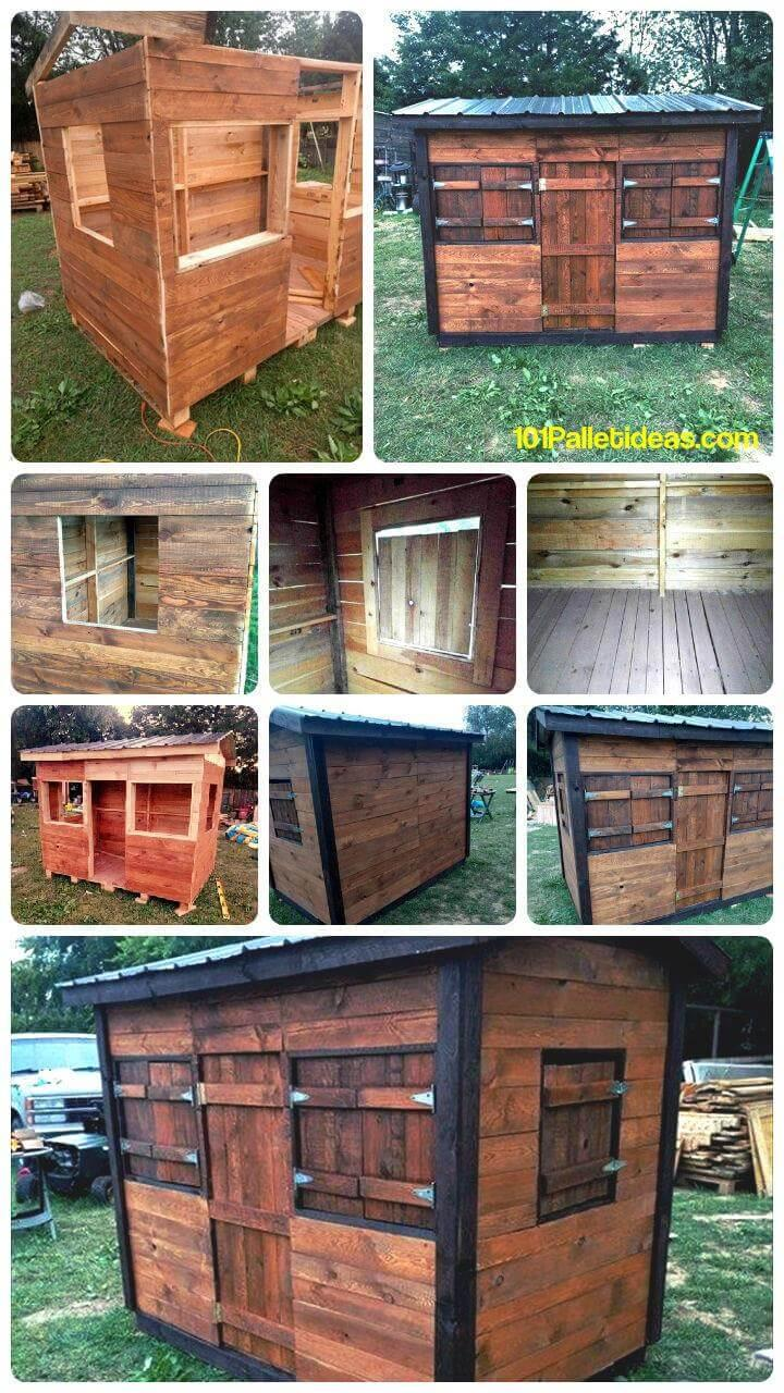 Diy Pallet Clubhouse Or Playhouse For Kids Easy Pallet Ideas