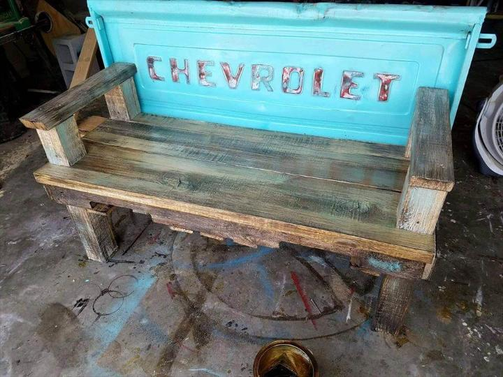 Up-cycled pallet bench
