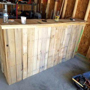 Wooden pallet work bench