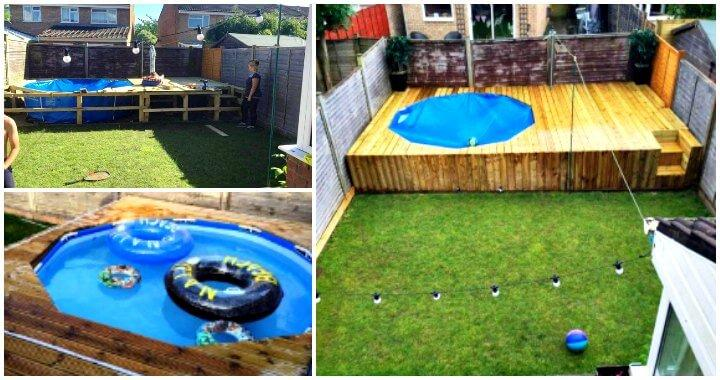 Swimming Pool Out Of Pallets Diy Easy Pallet Ideas