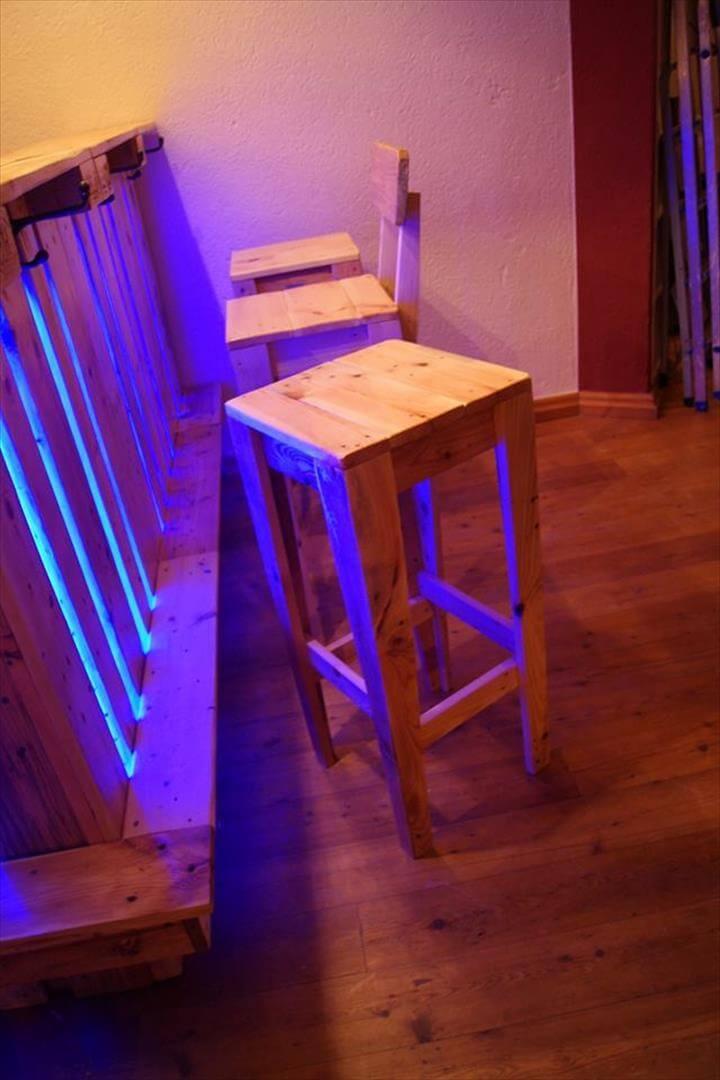 sturdy pallet bar stools