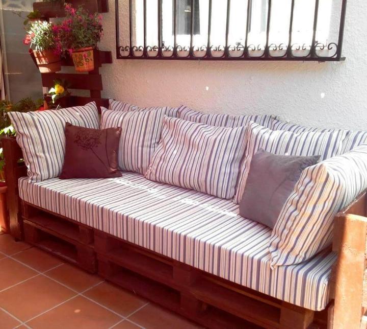 large pallet sofa