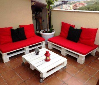 wooden pallet terrace furniture