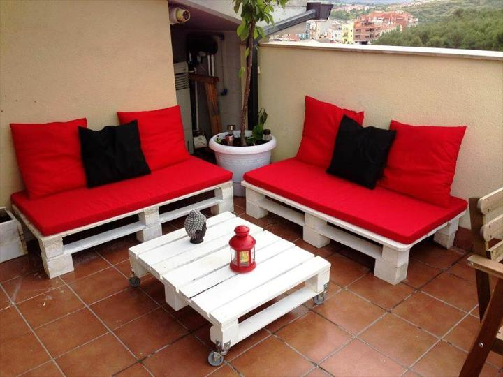 wooden pallet terrace furniture & 50 Ultimate Pallet Outdoor Furniture Ideas