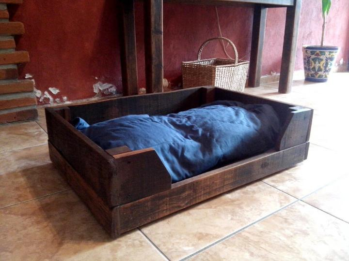 Diy Wood Pallet Dog Bed Easy Pallet Ideas