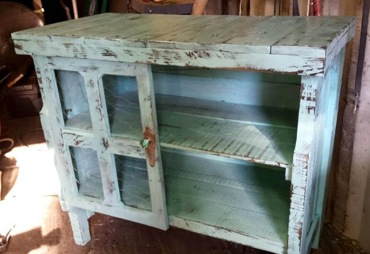 recycled pallet coffee cart