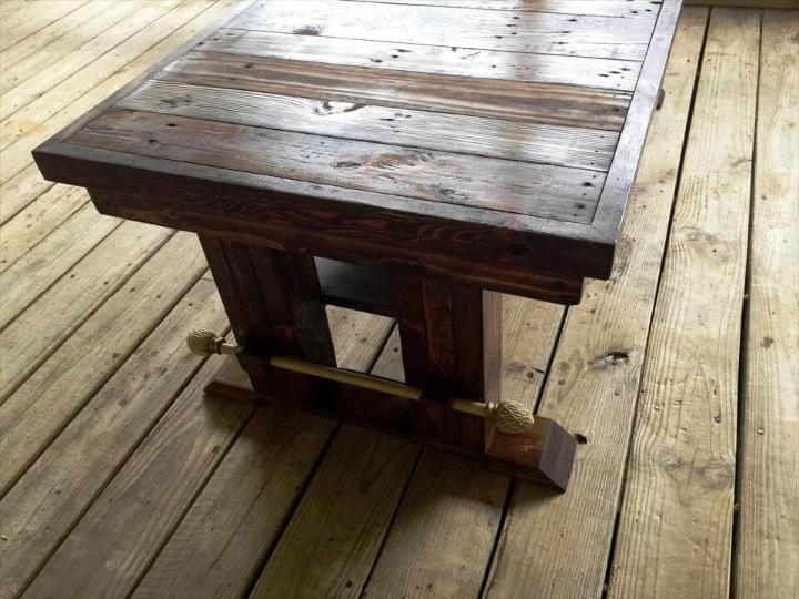 repurposed wooden pallet coffee table dignified with wooden accents