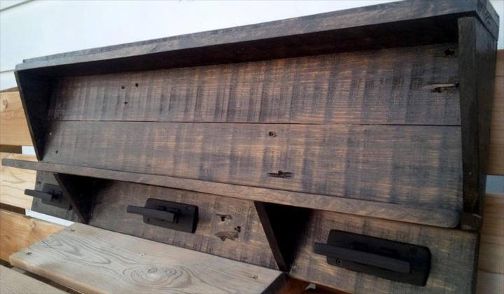 custom-built pallet shelf