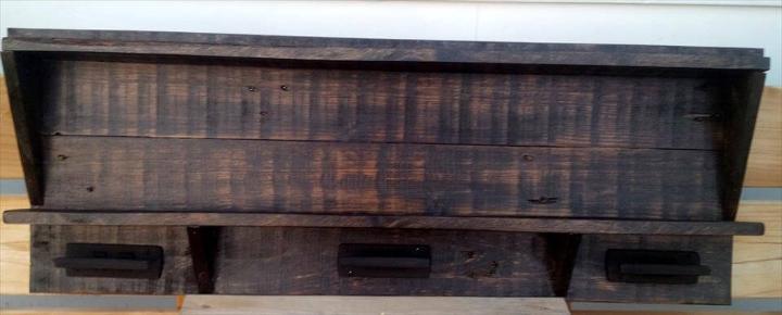 lovely dark stained pallet wood shelf